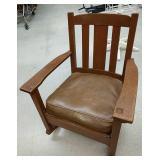 Padded seat wooden rocker