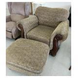 Beautiful oversized chair and ottoman