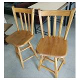 Pair of high back stools