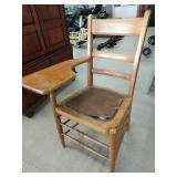 Old school desk chair