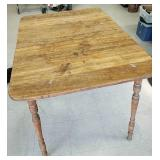 Antique oak table with 3 matching chairs
