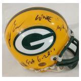 Mini Packers helmet with signatures