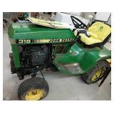 John Deere lawn and garden tractor 318 w/manual +