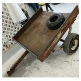 """4x4 utility trailer with 2"""" ball and extra tire"""