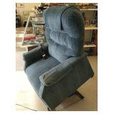 Blue Chaise power recliner works