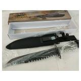 """11"""" survival knife with accessories"""