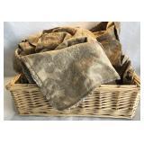 Large basket and cloth bundle