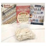 Beading books with craft string