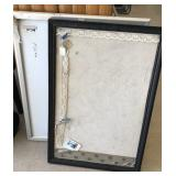 Pin board and poster frame