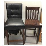 2x tall wood chairs-inspect