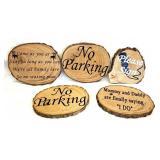 5 wood wedding signs