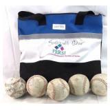 5x softball w bag