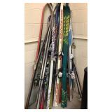 Large lot skis and accessories