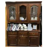China hutch appx 57x17x77.5-contents not included