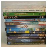 11 children movies plus wii game
