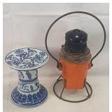 Lantern w candle holder
