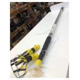 Adjustable grabber/light changer pole