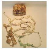 Seashell jewelry Box with seashell jewelry