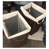 2x matching clothes hampers