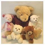 Mama bear with four baby bears
