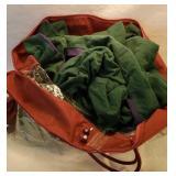 Flannel blanket in bag
