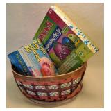Egg coloring kits with basket