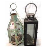 2x lantern decor