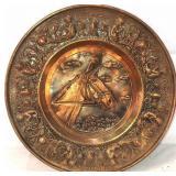 Copper Horse plate decor