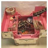 Shiny jewelry Box full of jewelry