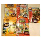 5 leap pad books with cartridges