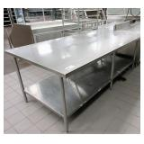 Stainless Steel Tables Assorted Sizes