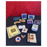 Post WW2 Military Lot Insignia Pins and Patches