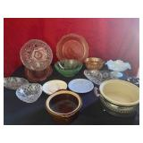 Antique Glass/Pottery/Crystal Lot Lot