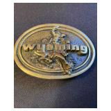 Wyoming Solid Brass Buckle