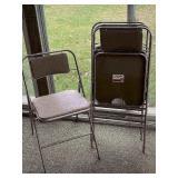Retro Samsonite Folding Chairs/Set of 4