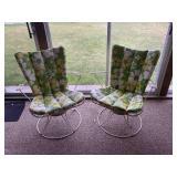 Retro Cast Iron Swivel Chairs/White
