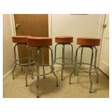Retro Barstools/Set of 4/Chrome Legs