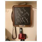 Retro Wall Telephone w/ Chalkboard Front