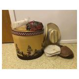Vintage Hat Box and Hats