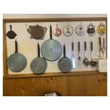 Vintage Rare Teal Green Club Pots and Pans and