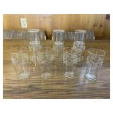 Vintage Etched Grape and Gold Trim Glasses
