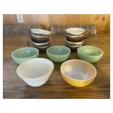 Vintage Fire King Bowls and Soup Mugs