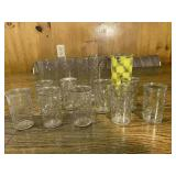 Vintage Mixed Dinking Glasses