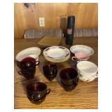 Assorted Vintage Glassware