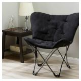 Mainstays Folding Butterfly Chair, Black