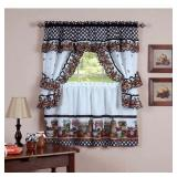 Cottage Window Curtain Tier Set, Mason Jars (#137)