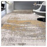 Distressed Modern Abstract Design Area Rug (#30)