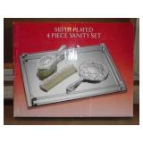 Silver Plated 4 Piece Vanity Set (New)