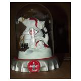 """The Coca Cola Bears """"Iced Cold Fun"""" Domed Sculptue"""