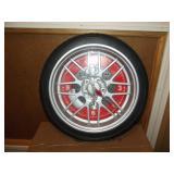 "Tire Wall Clock 13.5"""